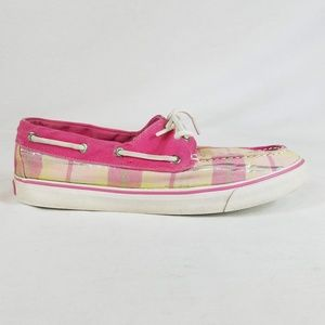 Sperry Top Sider Plaid Boat Shoes 8.5M